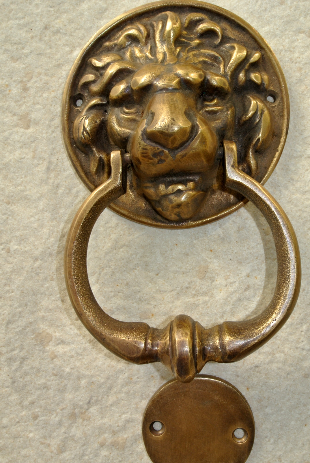 Heavy Door Knocker Small Lion Head Solid Brass Hand Made Door Knocker 160 Mm