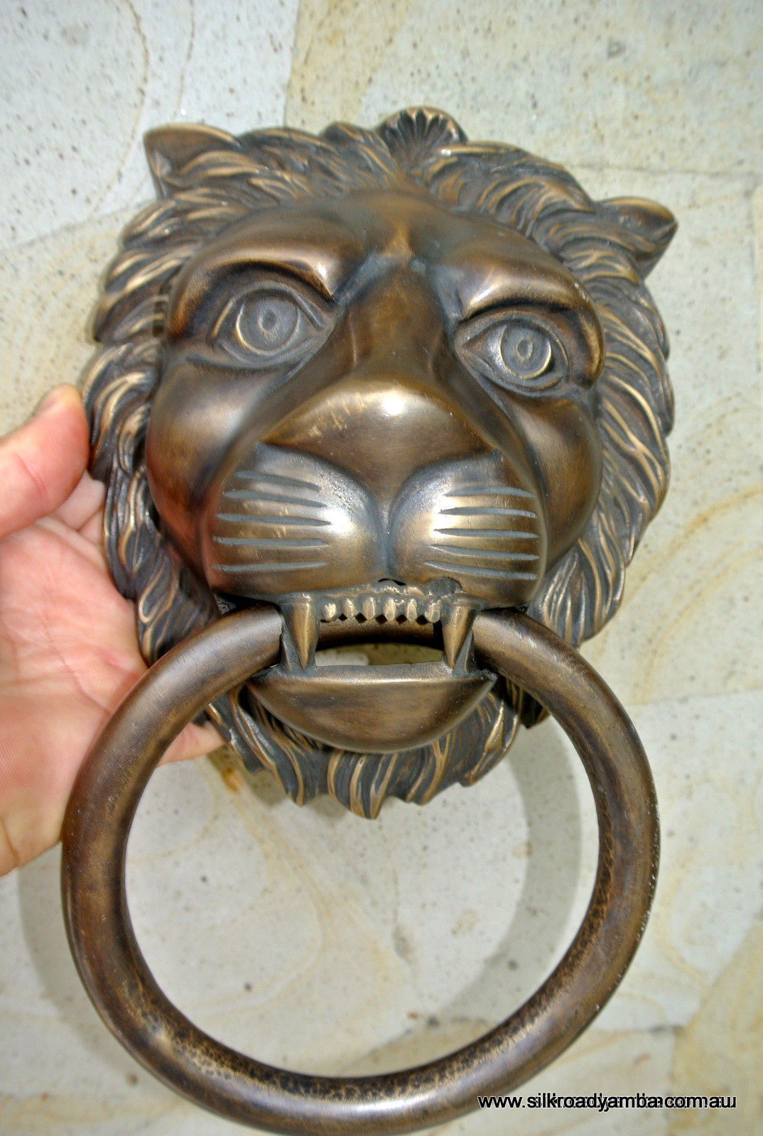 Heavy Door Knocker Huge Stunning Lion Solid Brass Heavy Door Knocker 12
