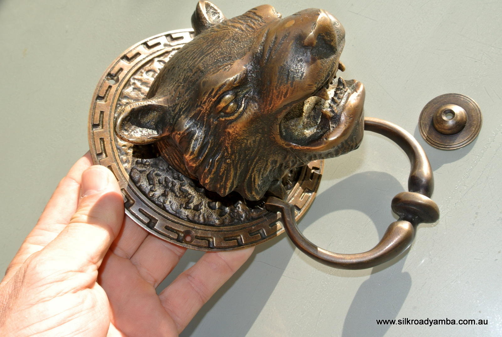 Heavy Door Knocker Heavy Lion Tiger Head Front Door Knocker 5 1 2 Solid