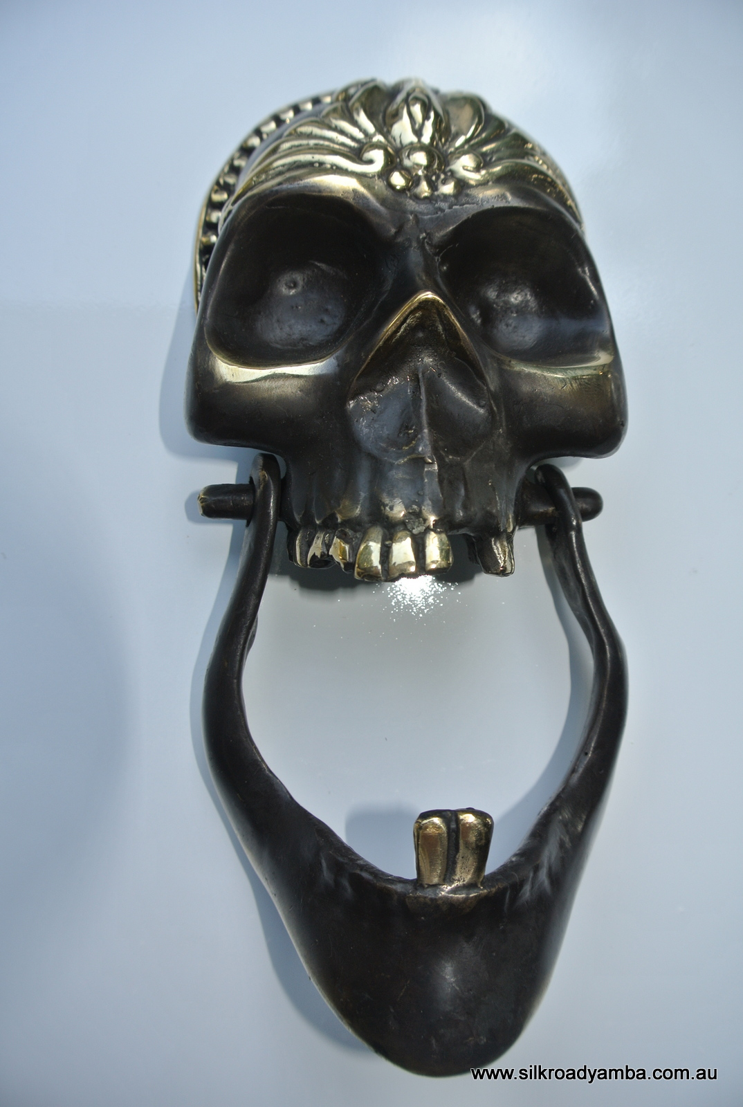 Heavy Door Knocker Skull Head And Jaw Heavy Front Door Knocker Solid Brass