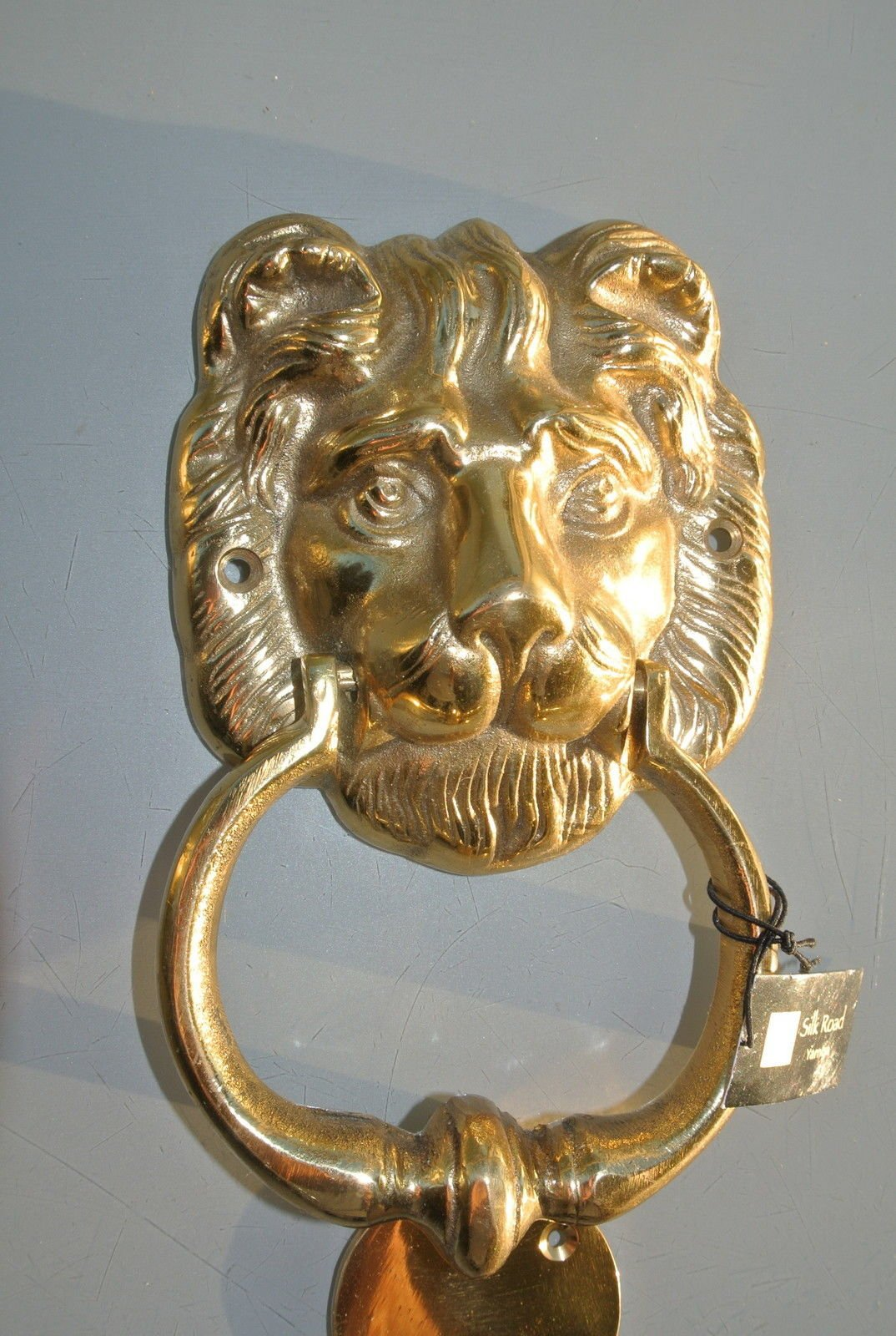 Heavy Door Knocker Polished Lion Head Heavy Front Door Knocker Real Solid