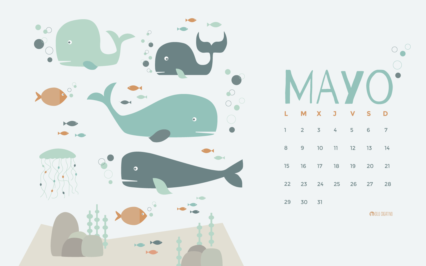 Calendario Mes Mayo 2017 Calendario Descargable Mayo 2017 Silo Creativo