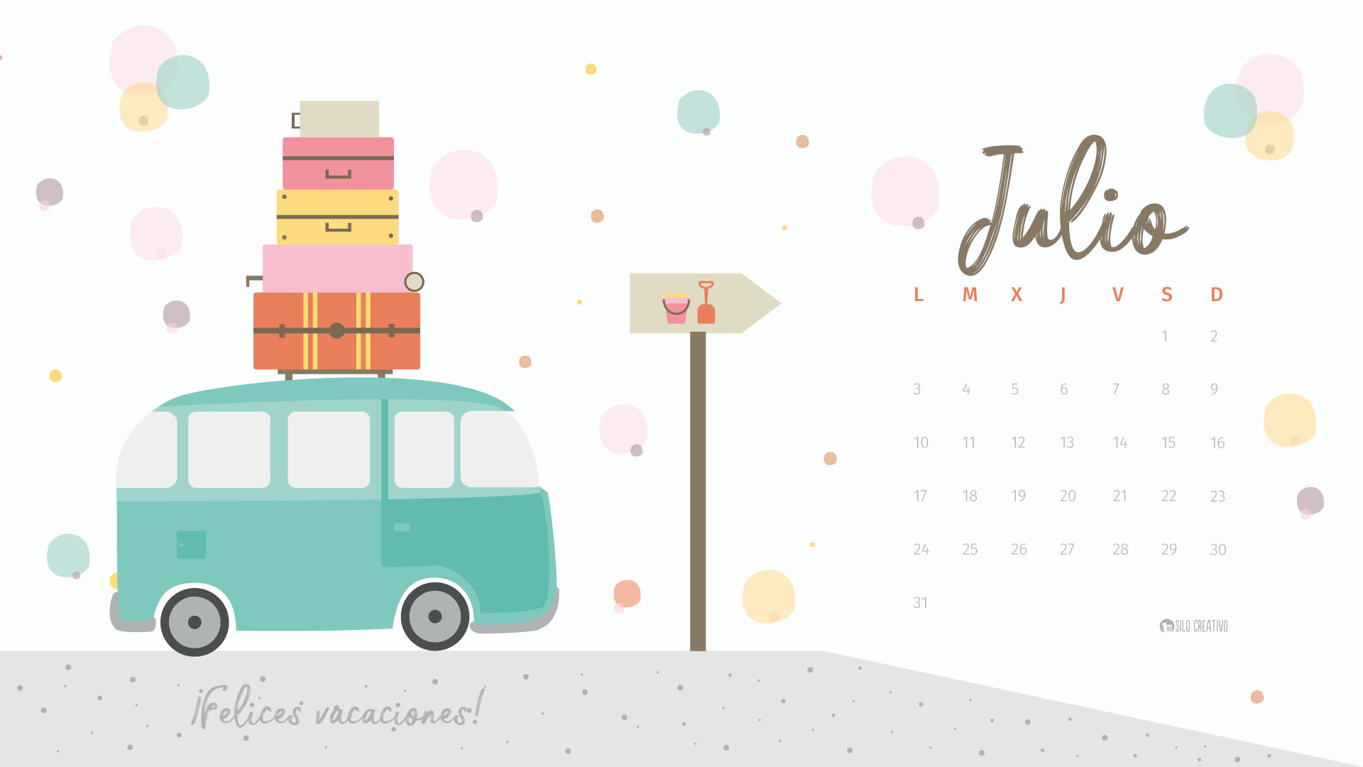 Mes De Julio 2017 Calendario Descargable Julio 2017 Silo Creativo