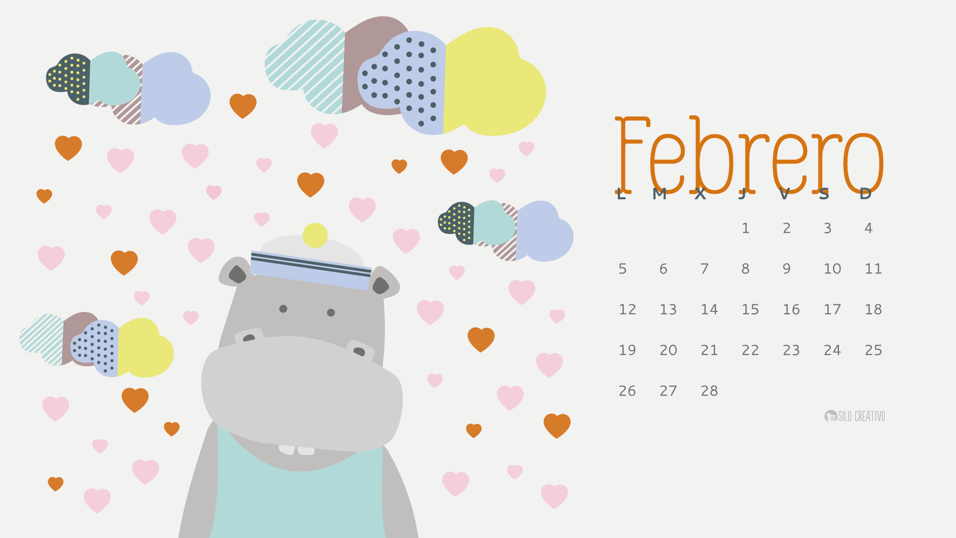 Calendario Del Mes De Febrero Calendario Descargable Febrero 2019 Silo Creativo