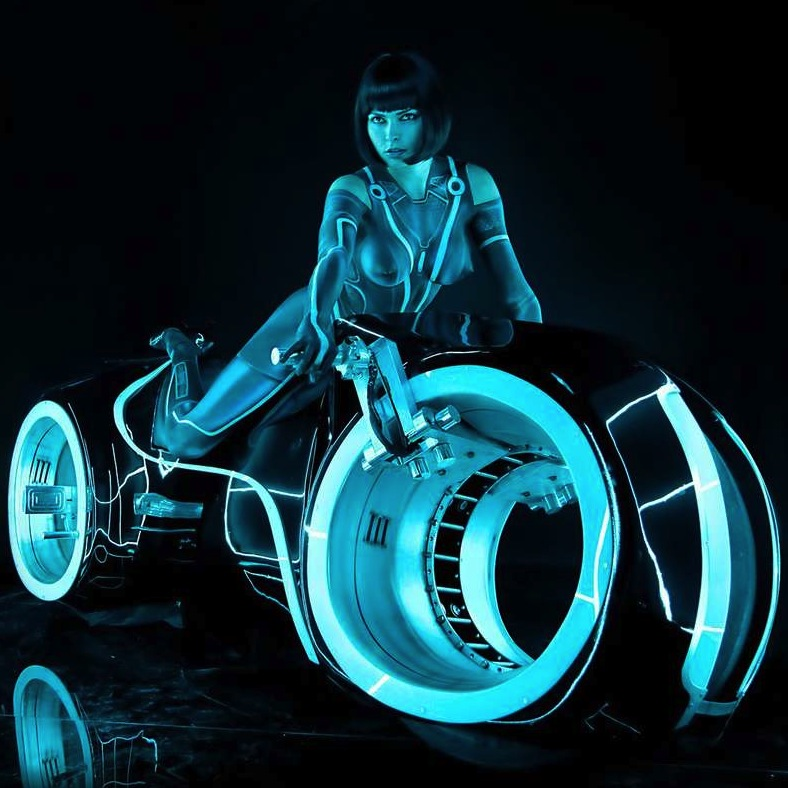 Girl On Bike Hd Wallpaper The Tron Lightcycle Bike Playboy Shoot Silodrome