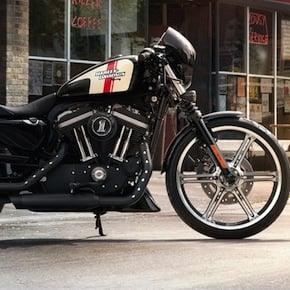 Girl On Bike Hd Wallpaper 2013 Harley Davidson Iron 883