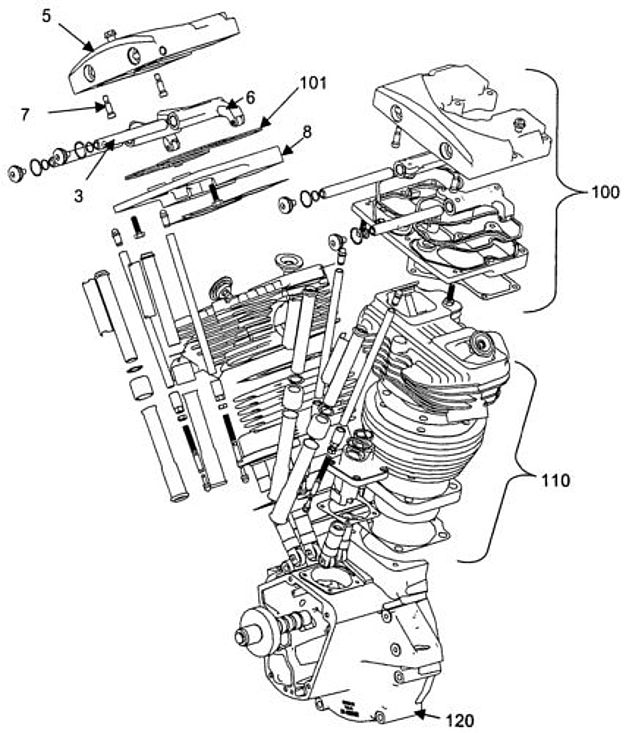harley evo engine diagram