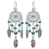 Dreamcatcher Earrings (TQ) - Silver Earrings - Silver by Mail