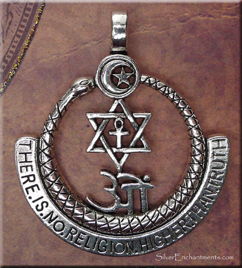 Wholesale Jewelry Gold Pendants Interfaith Pendant There Is No Religion Higher Than Truth
