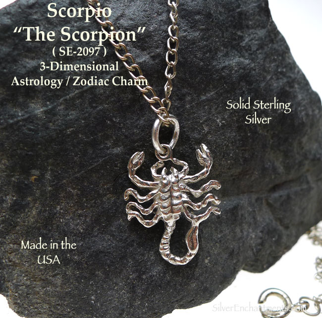 Bulk Jewelry Wholesale Sterling Silver Scorpio Charm Scorpion Astrology Zodiac