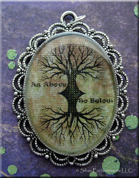 Bulk Resin Jewelry As Above So Below Tree Of Life Pendant Necklace Tree Of
