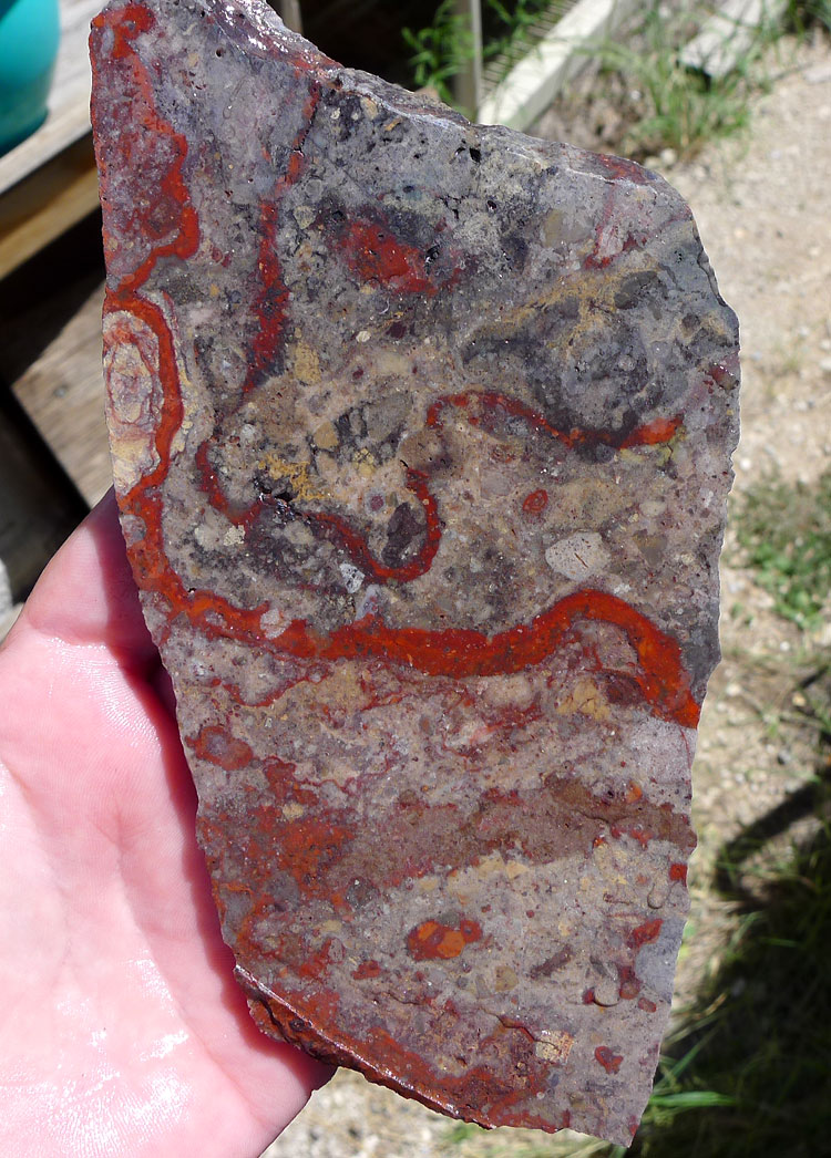 Wholesale Jewelry Arizona Canelo Rhyolite Slab 172x84x6 4mm