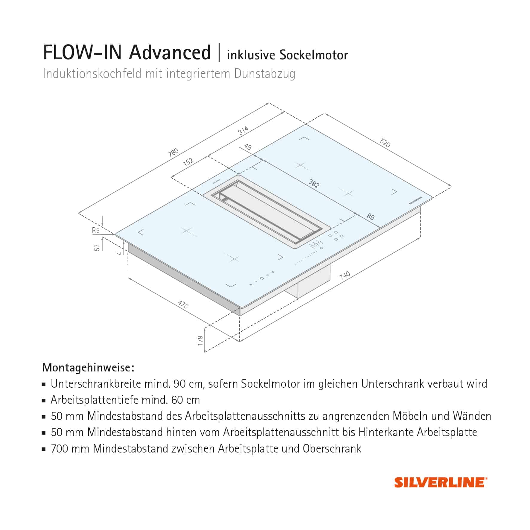 Induktionsherd Anschließen Flow In Advanced Silverline