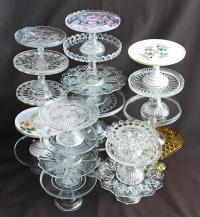 Antique Glass Cake Stand. Victoria Antique Silver Cake ...