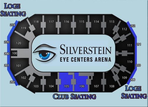 Silverstein Eye Centers Arena Independence, MO Seating Chart