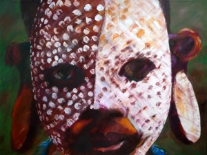 """African Mask 36""""x48"""" Oil on Canvas"""