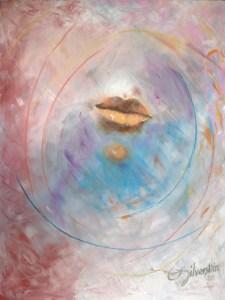 "Lips 36""x48"" Oil on Canvas"