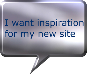 inspiration for my new website