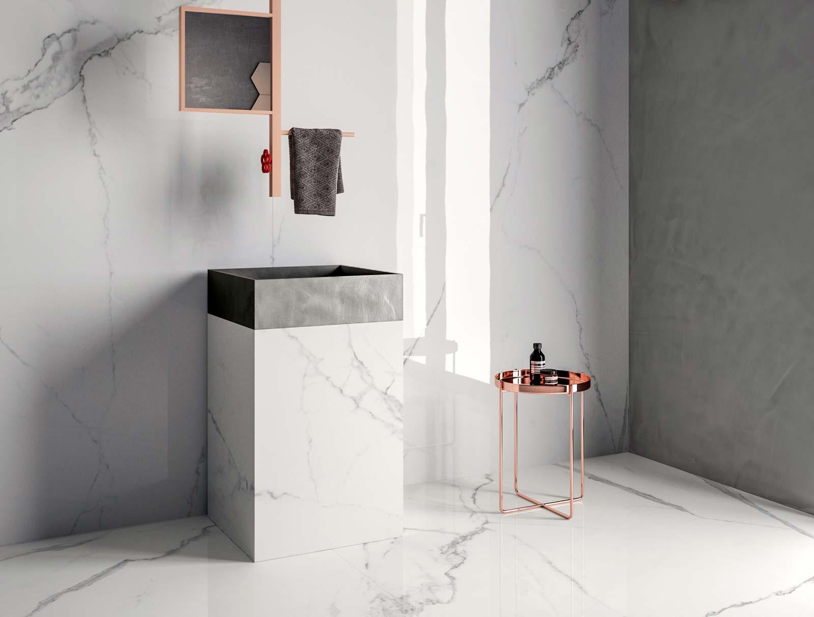 Bagno effetto marmo piastrelle bagno finto marmo
