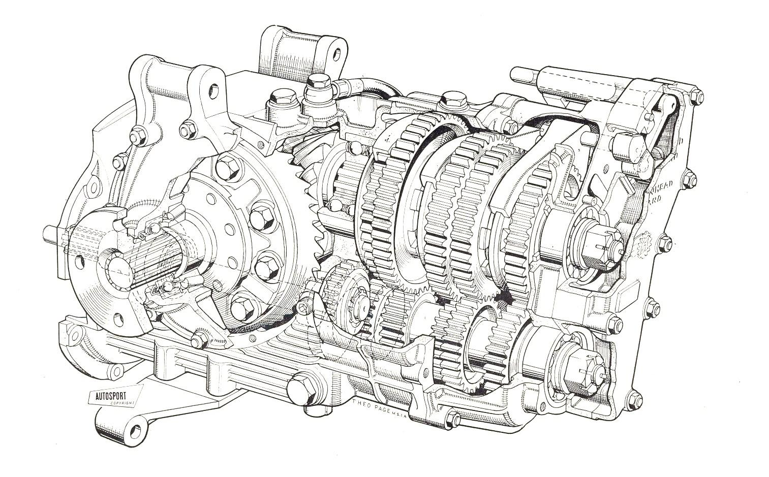 five speed transaxle diagram on car
