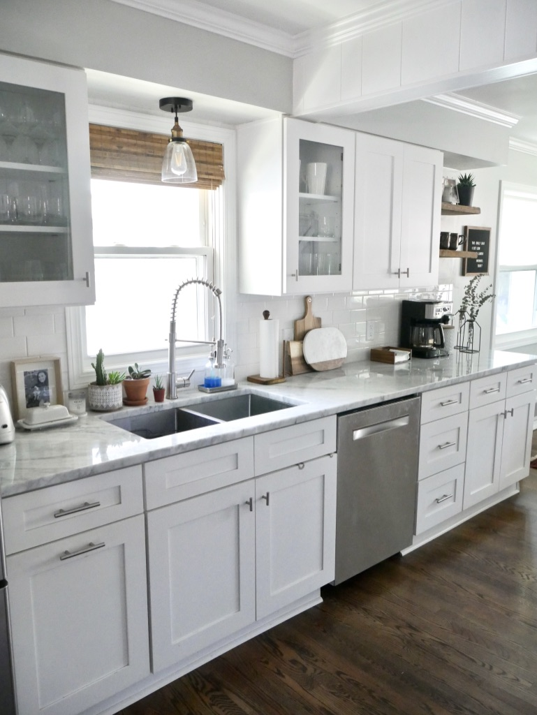 White Carrera Marble Kitchen Countertops An Honest Review Of Carrara Marble Countertops Sima Spaces