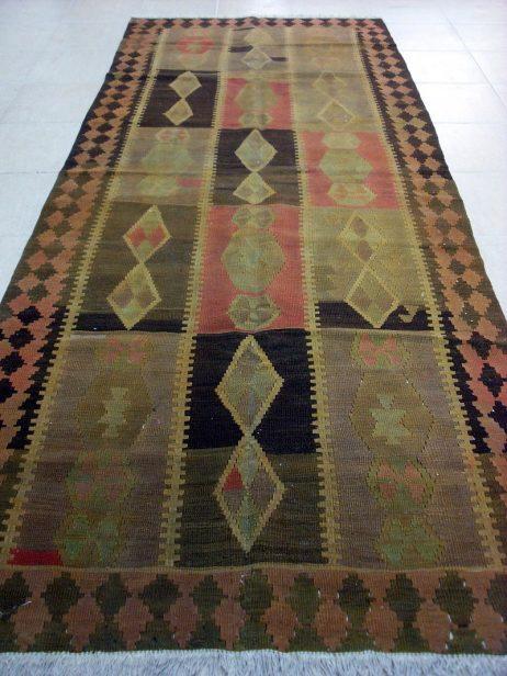 Antiek Kaukasus Kelim 339 x 135
