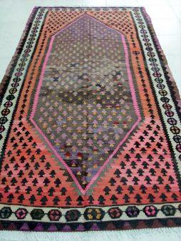 Oud Perzische Senneh Kelim 279 x 141