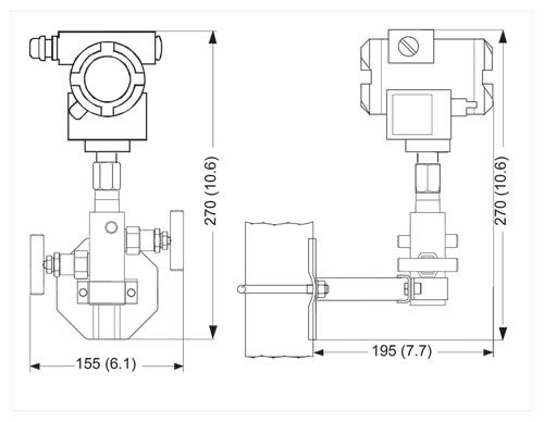 Factory-mounting of valve manifolds on SITRANS P transmitters