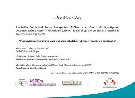 El envío de las invitaciones para un evento Símbolo Ingenio Creativo - formato para invitacion