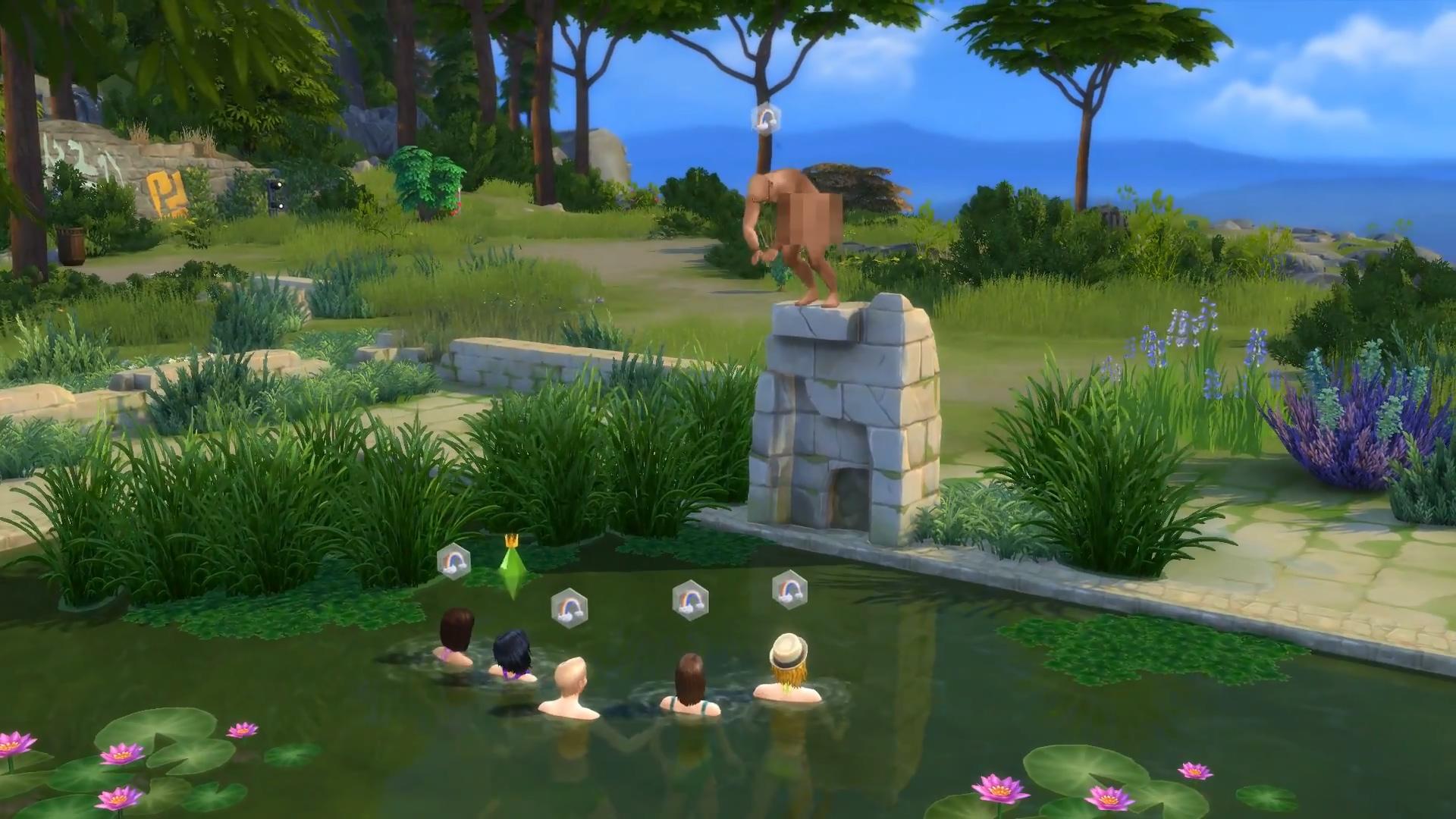 Falling Water Wallpaper 1080p Sims 4 Skinny Dipping Simcitizens