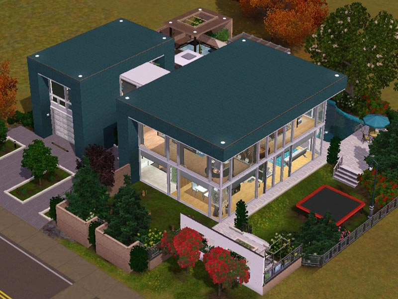 Single Küche Modern Sims 3 - Download - Arjan - Modern Home | Modernes Haus