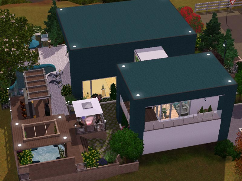 Grillecke Garten Sims 3 - Download - Arjan - Modern Home | Modernes Haus