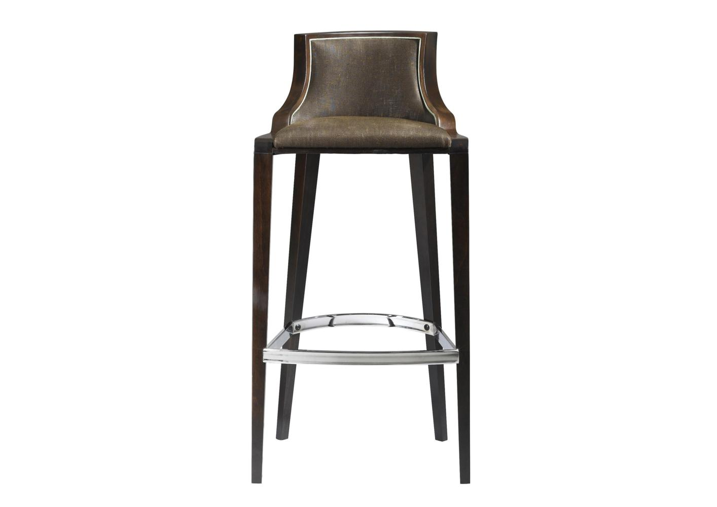 Chaise De Bar Marron Tabouret De Bar 4 Pieds Marron Et Noir Cuir