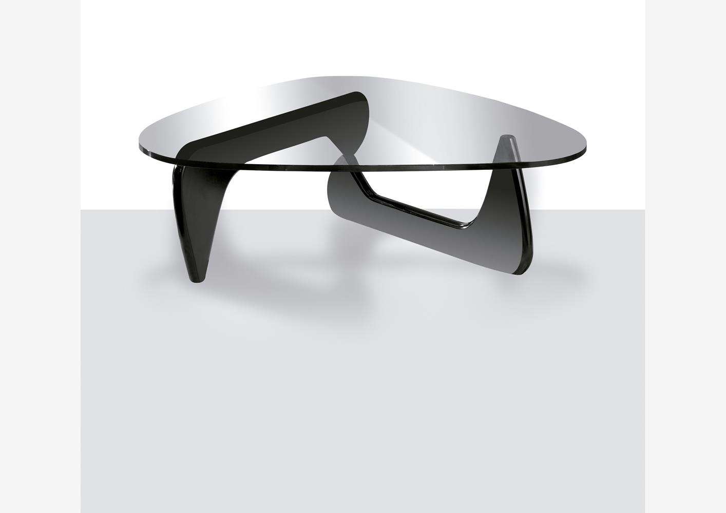Pied De Table Contemporain Table Basse Contemporaine Plateau Verre Pieds Noir