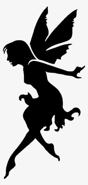 Stencil Printable Fairy Silhouette Seated wwwpicturesboss