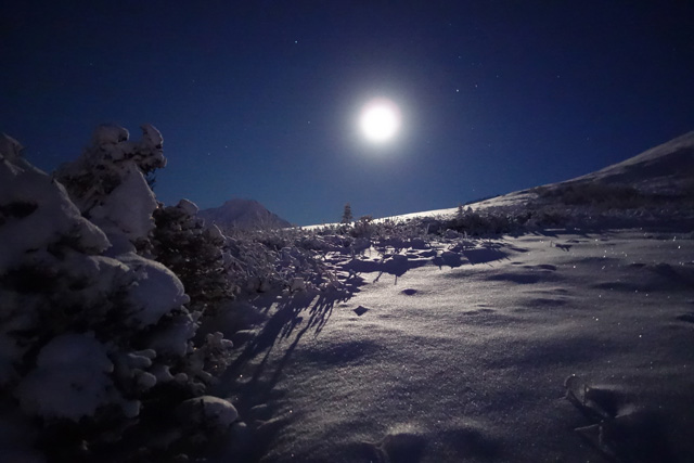 National Geographic Wallpaper Fall Moonlight Ski Down At Manning Park Similkameen Valley