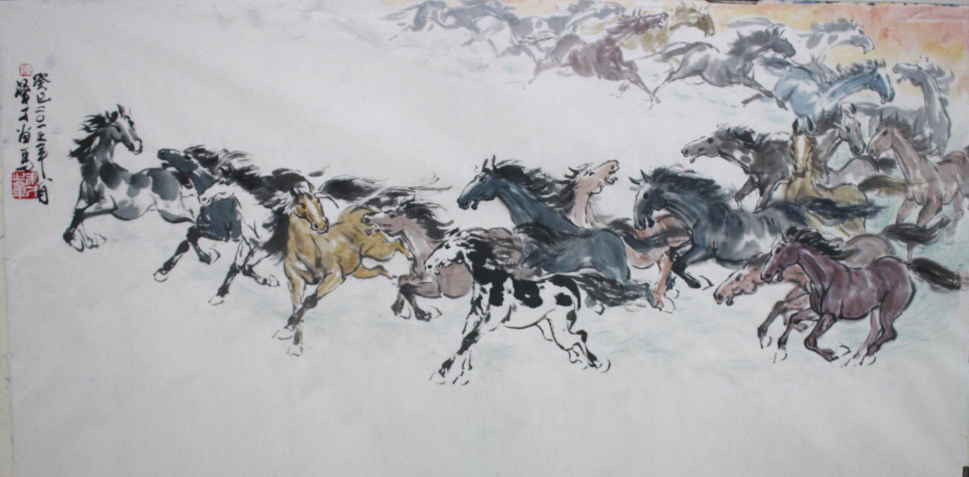 Wallpaper Horse 3d Horse Painting Simon Chan S Art