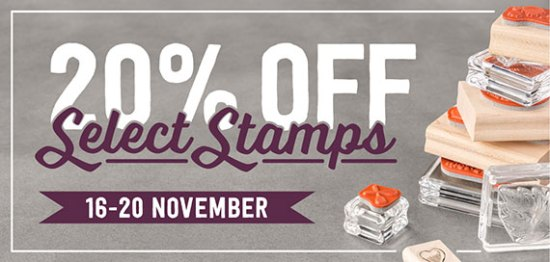 Stamps on sale! 20% off select Stampin' Up! sets until Nov 20.