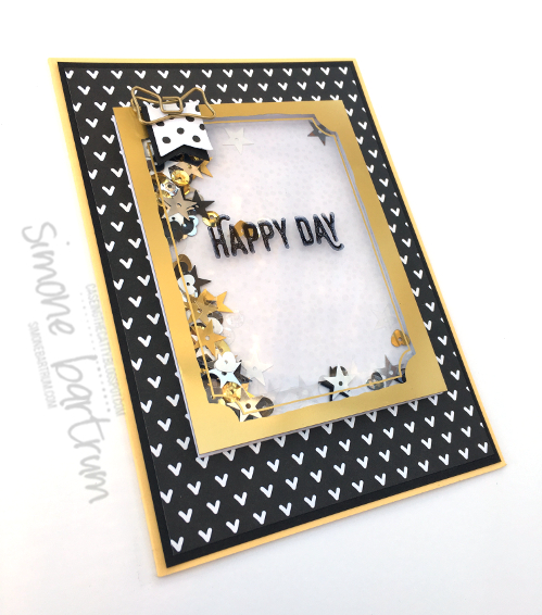 Perfect Pairings shaker frame card