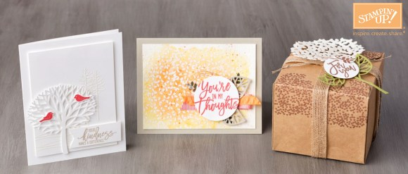 Thoughtful Branches stamp set and thinlits bundle