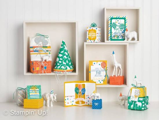 Party Animal Suite - pages 4-5 of the 2017 Stampin' Up! Occasions Catalogue