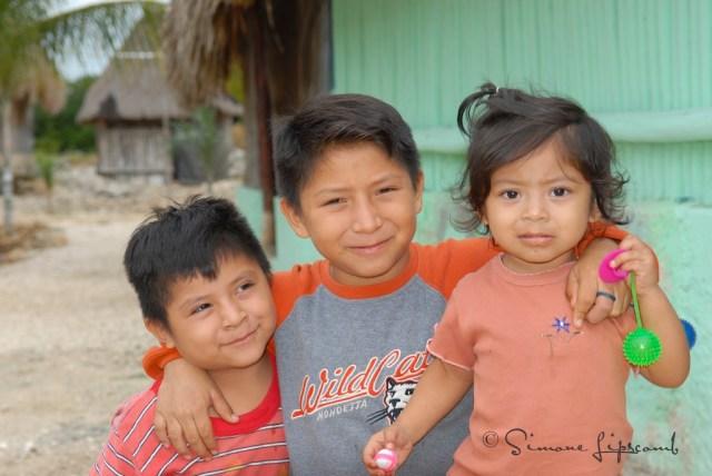 Children at Akumal, Mexico