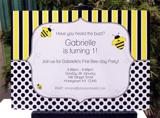Birthday Banner Officeworks Printable Bee Party Invitations And Decorations