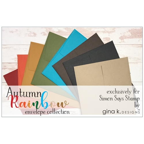 Gina K Designs AUTUMN RAINBOW 24 Pack A2 Envelope Collection 1226 at