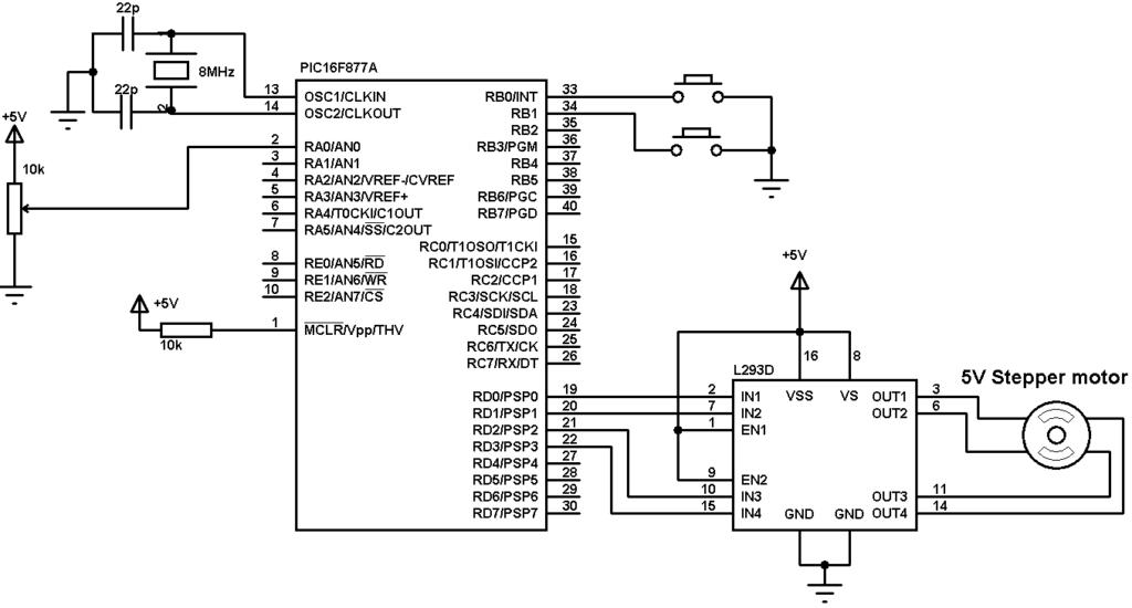 simple stepper motor driver circuit