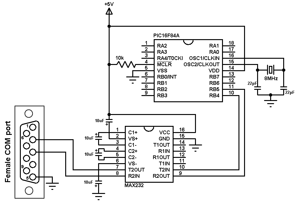 simple circuit on a breadboard