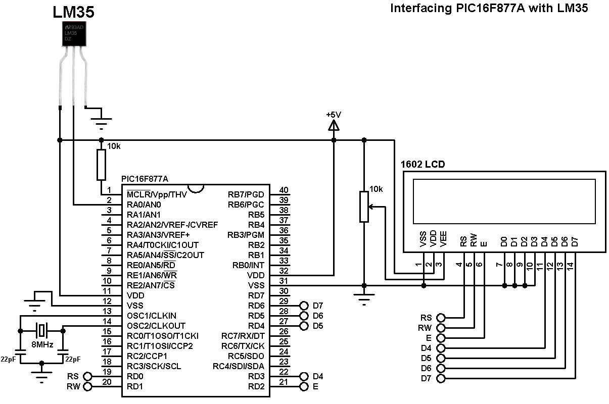 lm35 temperature sensor circuit