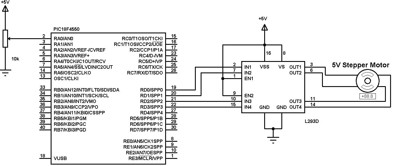 bipolar stepper motor driver circuit h bridge