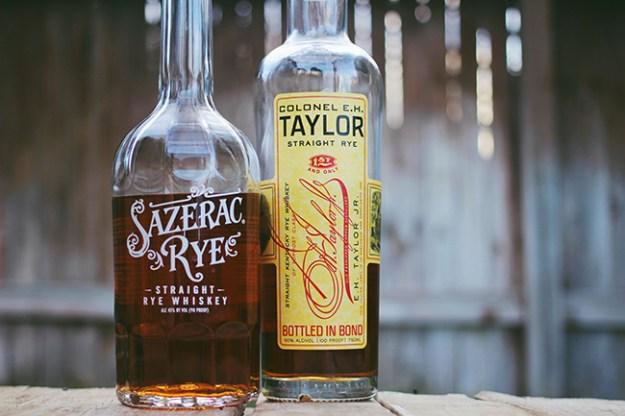 sazerac and e.h. taylor rye