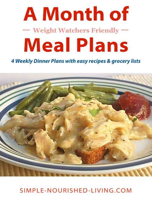 A Month of Weight Watchers Friendly Meal Plans eBook with PointsPlus